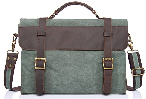 ECOCITY Canvas Leather Messenger Bag