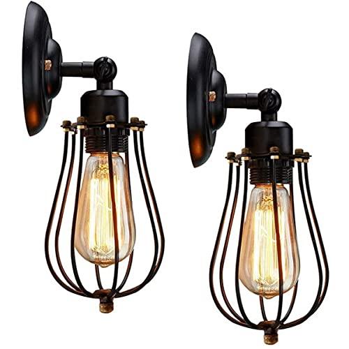 Lámpara de Pared Vintage Industrial, Apliques de Pared Vintage Ajustable, Retro Rústico Metal...