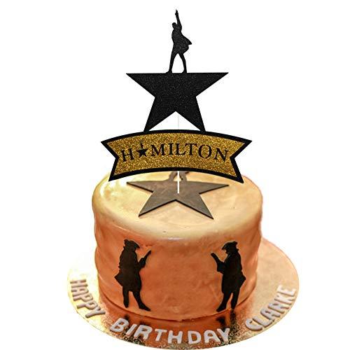 Hamilton Cake Topper, American Hamilton Musical Cake Topper, Hamilton Birthday Party Decorations, Broadway Theme party Decorations, Girls Kids Music Birthday Party Decorations