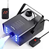 Fog Machine, Theefun 900W Smoke Machine with 4000CFM Fog, 6 Stage LED Lights with 7 Colors & Strobe Effect Hallowen Fog Machine-Wired and Wirelss Remote Control Fog Machine for Halloween Wedding Party