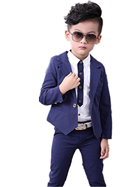 子供タキシード キッズ服 男の子ベビー2色スーツ衣装 ズボン、ジャケット 卒業式/入園式/発表会/七五三/ジャケット 100~140CM