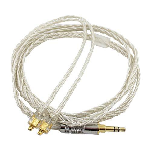 Generis MMCX Cable Auricular Mejorar Cable DIY 8 Core Plata Foil Alambre...