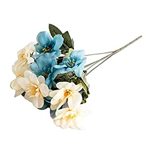 shangyi 10 Head Delphinium high Grade Simulation Flower Silk Flower Home Decoration Silk Flower Artificial Flower high Simulation