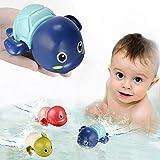 TOHIBEE Bath Toys for 1-5 Year Old Boy Girls Gifts Swim Pool Bath Toys for Toddler 1-3 Bathtub Toys for Baby Boy Birthday Gifts for 1-4 Year Old Boys Girls, 3pcs Set