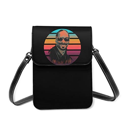 XCNGG bolso del teléfono SNOoP DogG Vintagesmart phone Wallet Bags,Cellphone Pouch Bag with Shoulder Strap and Magnetic Button