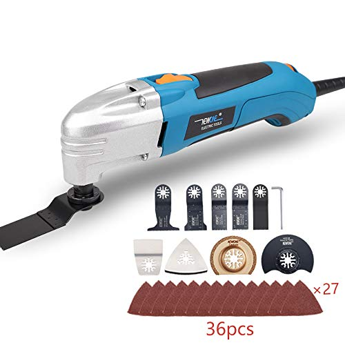 Review Of NEWONE 1.8A 6 variable speed oscillating multi tool kit with 36 accessories saw blade and ...