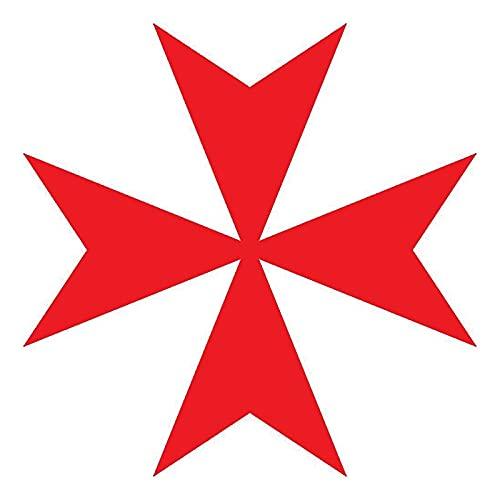 Etiqueta engomada del Coche de la Manera de la Cruz maltesa Personalidad de la decoración de la Moda PVC Impermeable Impermeable Protector Solar calcomanía 10 x 10 cm (Color : 3, Size : 20 x 20 cm)