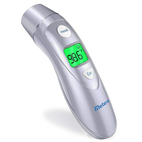 Baby Forehead and Ear Thermometer for Fever, Best Digital Infrared Kids Thermometer with Fever Alarm,Instant Reading, Super Accuracy with Scan Probe for Baby Kids, Toddlers, and Adults
