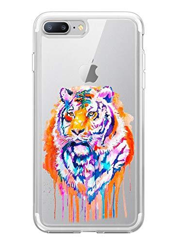 Funda Transparente Compatible para iPhone 5/5S/SE,Carcasa Suave Silicona TPU Gel Dibujos Animal Ultra Fina Anti Choques y Anti Arañazos Clear Bumper Case Cover para iPhone 5/5S/SE,A4