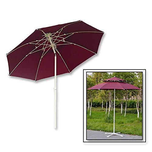 Riyyow Parasol-Regenschirm-Doppel-Top-Terrassenregenschirm, höhenverstellbare Markttisch-Regenschirme mit Neigungsmechanismus, 8,2ft großer Regenschirm-Sonnenbräanz