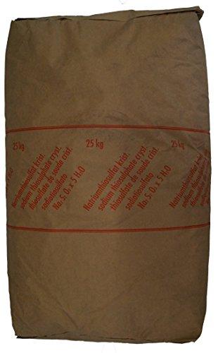25kg Natriumthiosulfat (-penthydrat), Na2S2O3, Fixiersalz, chem. rein., versandkostenfrei!