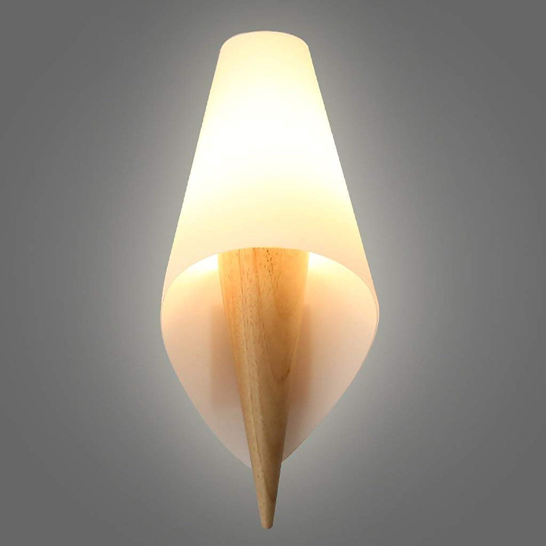 BAIJJ Wandleuchten Holzwandleuchte Schlafzimmer Nachttischlampe Wohnzimmer Einfache dekorative Leuchten Kreative Gangwandleuchten Dekorative Wandleuchten (Farbe  A)