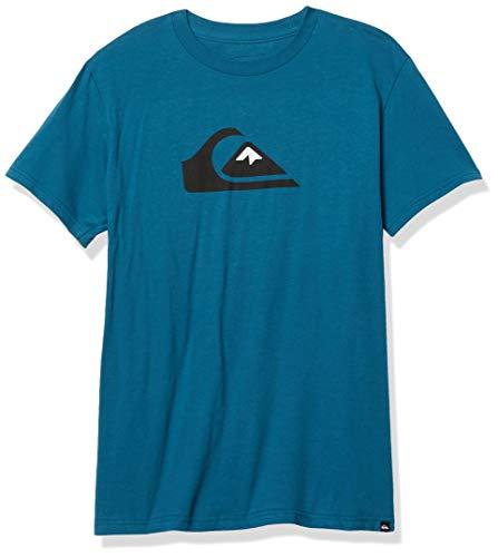 Quiksilver Camiseta de manga corta con logo Comp para hombre - azul - XX-Large