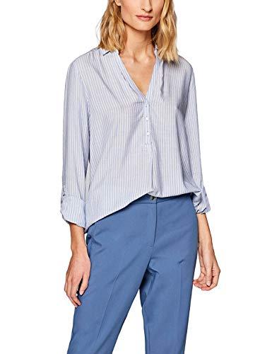 ESPRIT Damen 999EE1F802 Bluse, 435/PASTEL Blue, (Herstellergröße: 36)