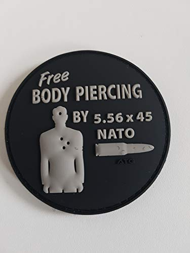 ATG 3 D Rubber Patch Free Body Piercing