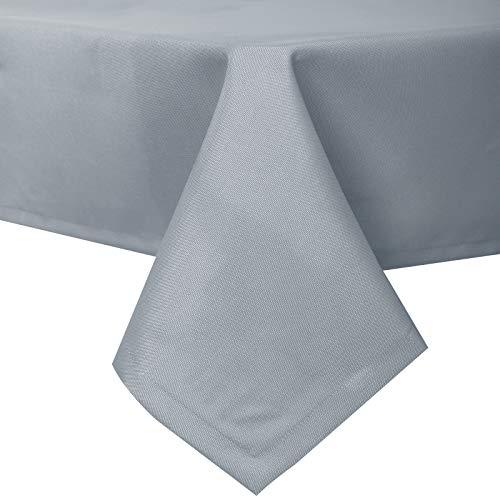 EUGAD Tischdecke Abwaschbar Tischwäsche Wasserabweisend Tischtücher Lotuseffekt Eckig viele Größe Farbe wählbar, 130x160 cm Hellgrau