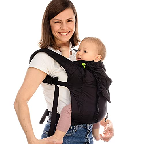 Product Image of the Boba Air Baby Carrier - Black - Breathable mesh Shoulder Straps, Padded Leg...