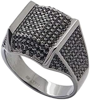 Black Rhodium Plated Sterling Silver Ring