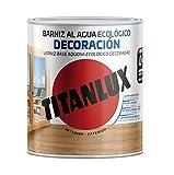 Titanlux - Barniz Ecológico Brillante para madera (250 ml, Caoba 1004)