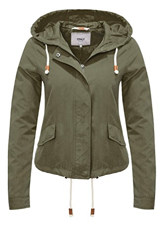 ONLY Damen onlSKYLAR Parka Jacket CC OTW Jacke, Grün (Grape Leaf), 42 (Herstellergröße: XL)