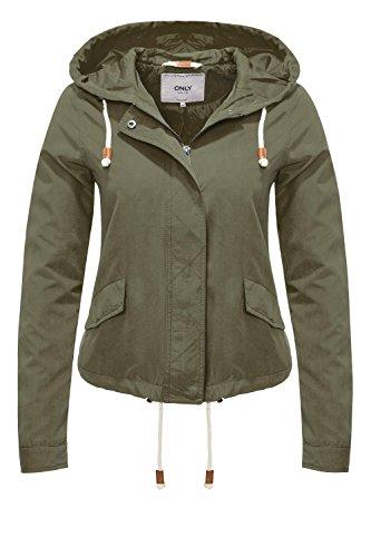 ONLY Damen onlSKYLAR Parka Jacket CC OTW Jacke, Grün (Grape Leaf), 40 (Herstellergröße: L)