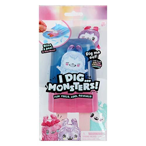 I Dig... Monsters Popsicle Pack - 1pc Collectable ASMR Toy | Fun & Cute Stress Relief Toy - Styles May Vary
