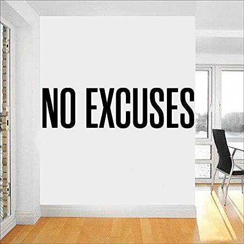Gimnasio etiqueta de la pared decoración empresa cultura pared sin excusas palabras motivacionales vinilo pegatinas de pared A9 90x24cm