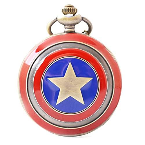 Reloj De Bolsillo De Anime Periférico De Anime Capitán América Reloj De Bolsillo Grande Capitán América Escudo Capitán América Accesorios De Reloj De Bolsillo