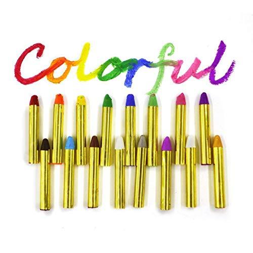 GEESENSS Crayons de couleur pour le visage des enfants Kit Peinture à l'huile de corps Fans de clown Fans de Devil Ghost Peinture corporelle