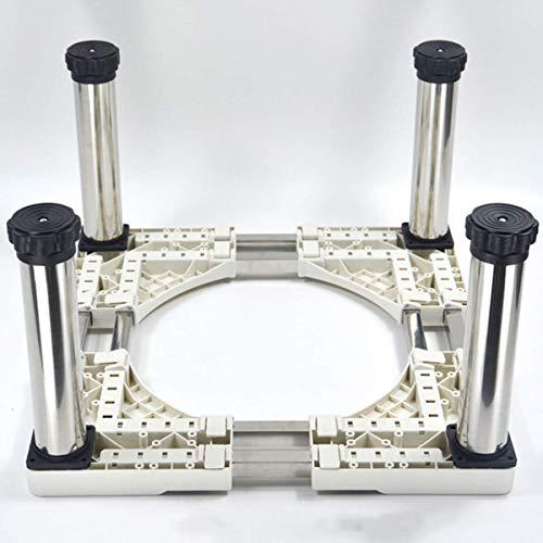 YYSDH Machine à Laver Socle, Socle en Acier Inoxydable résistant à l'humidité avec 4-12 Pieds de Support réglables pour sèche-Linge, Lave-Linge et Un réfrigérateur (Hauteur: 28 à 32 cm),A