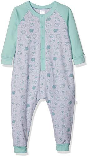 Schiesser Baby-Jungen Anzug Zweiteiliger Schlafanzug, Grau (Grau-Mel. 202), 92