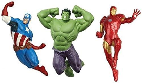 Avengers 3teilges Tauchfiguren Set - Hulk - Ironman - Captian America