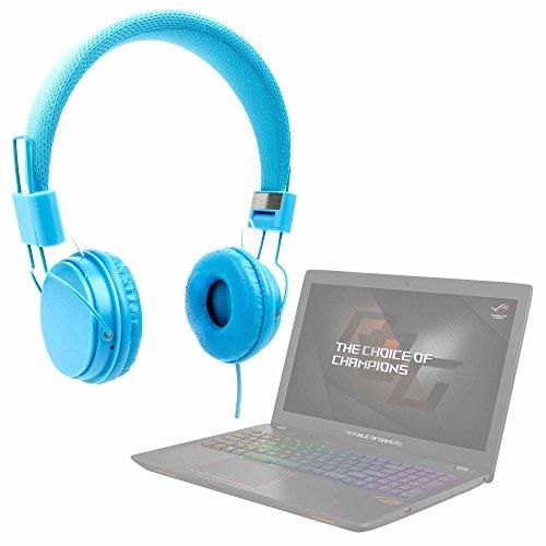 DURAGADGET Auriculares De Diadema Color Azul para Portátil ASUS GL553VD-DM078, ASUS ROG Strix GL553VD-DM067T, ASUS GL553VD-DM254T