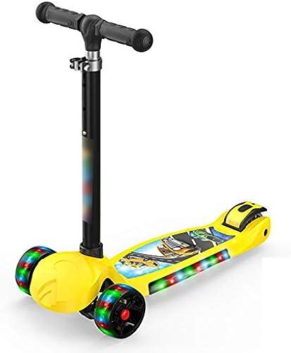 LiPengTaoShop Kick Roller Roller Roller Abnehmbarer Roller vierr igen Roller Roller Roller geeignet für Kinder im Alter von 2-14 Jahren (Farbe   Gelb)