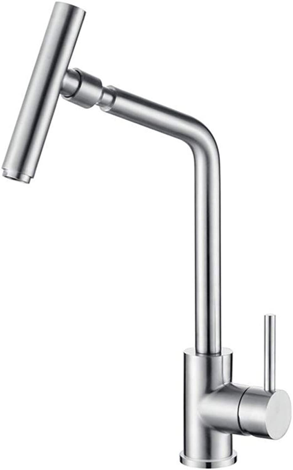 WETRR Kitchen faucet, Single Handle One Hole Electroplated Kitchen Taps, Multi-directional swivel swing kitchen sink faucet