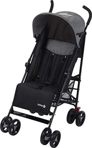 Safety 1st Buggy Rainbow, compacte en wendbare kinderwagen, met meervoudig verstelbare rugleuning en gevoerde zitting, licht en zeer compact opvouwbaar, verschillende Kleuren: Black Chic