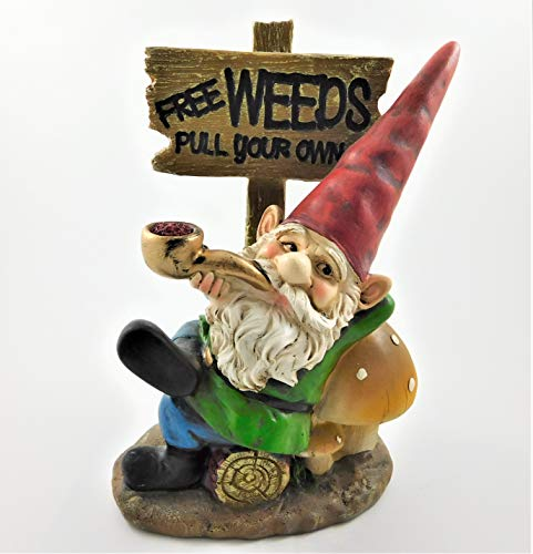 Seven Secrets Gnome (FREE WEEDS Pull your Own) Patio Ornament Garden Statue Figurine Fun Gift | 39185
