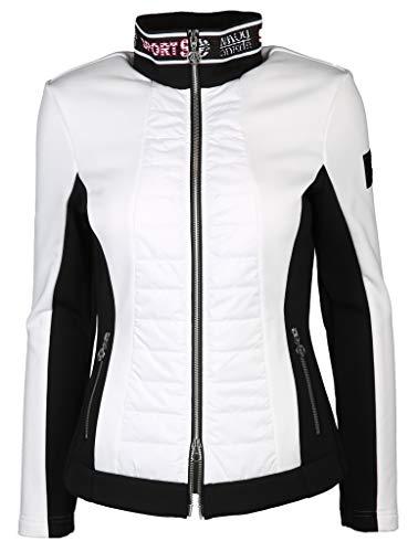 Sportalm W Snow Jacket 2 Colorblock-Schwarz-Weiß, Damen Isolationsjacke, Größe 38 - Farbe Optical White