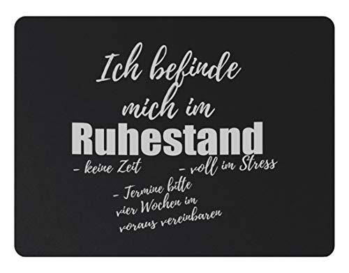 True Statements Fussmatte Ich befinde mich im Ruhestand - Dreckfang-Matte mit Spruch - Größe 40x60cm, rutschfest, 6mm dick, waschbar, hintergr& schwarz