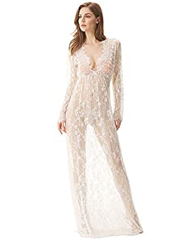 see through lace gown
