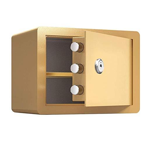 GGDJFN Key Box, Caja fuerte, Caja de Seguros SafeBox cajas de seguridad, llave de la caja, Cajas documentos de identidad for gabinete, los documentos A4, ordenadores portátiles, joyas Incluye 2 llaves