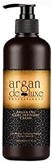 Argan deluxe 100% Pure Organic Moroccan Argan Oil Curl Defining Cream Restores Shine and Softness for all Curl Types. Formulated to hold Curls Pattern 8 oz.