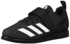 Weightlifting shoes designed for serious lifters Narrow, snug fit; Lightweight, locked-down feel Canvas upper for soft comfort and durability Lace closure with a hook-and-loop strap; Open forefoot and flexible toe design Adiwear outsole offers the ul...