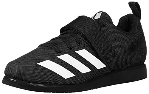 adidas Men's Powerlift 4 Weightlifting Shoe, Black/White/Black, 10 M US