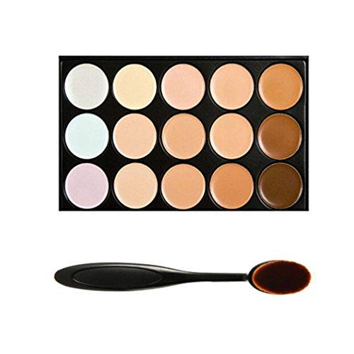 Cepillo de Boolavard base + paleta de 15 colores cara contorno corrector Crema camuflaje