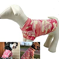 エイシア-ペットマスター 小中大犬のためのファッション迷彩ペット犬Tシャツ、ソフトで快適な綿の子犬犬のタンクトップ迷彩夏のTシャツ (Color : RED, Size : XXXXL)