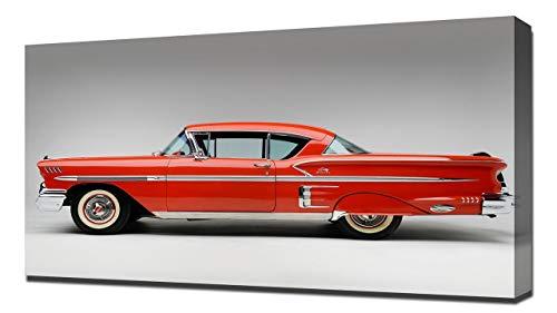 1958 Chevrolet Bel Air Impala V2 - Canvas Art Print - Wall Art - Canvas Wrap