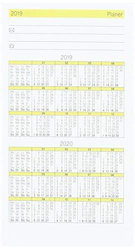 rido/idé 7045030 zak-/vouwkalender GILET-Planer reserve-kalender (2 pagina's = 1 maand, 70 x 118 mm, kartonnen envelop, kalender 202020)