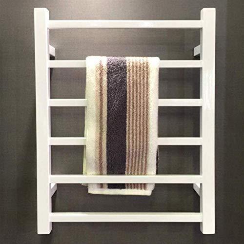 TUHFG Radiador toallero negro, calentador de toallas, spray de acero inoxidable, toallero eléctrico, montaje en pared, toallero de baño, toallero recto, calefactor (color: blanco)