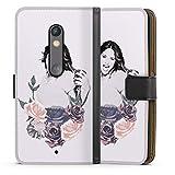DeinDesign Étui Compatible avec Motorola Moto X Play Étui Folio Étui magnétique Violetta Disney...
